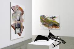 Works of  Albert Oehlen, Matthias Schaufler and Anthony Caro